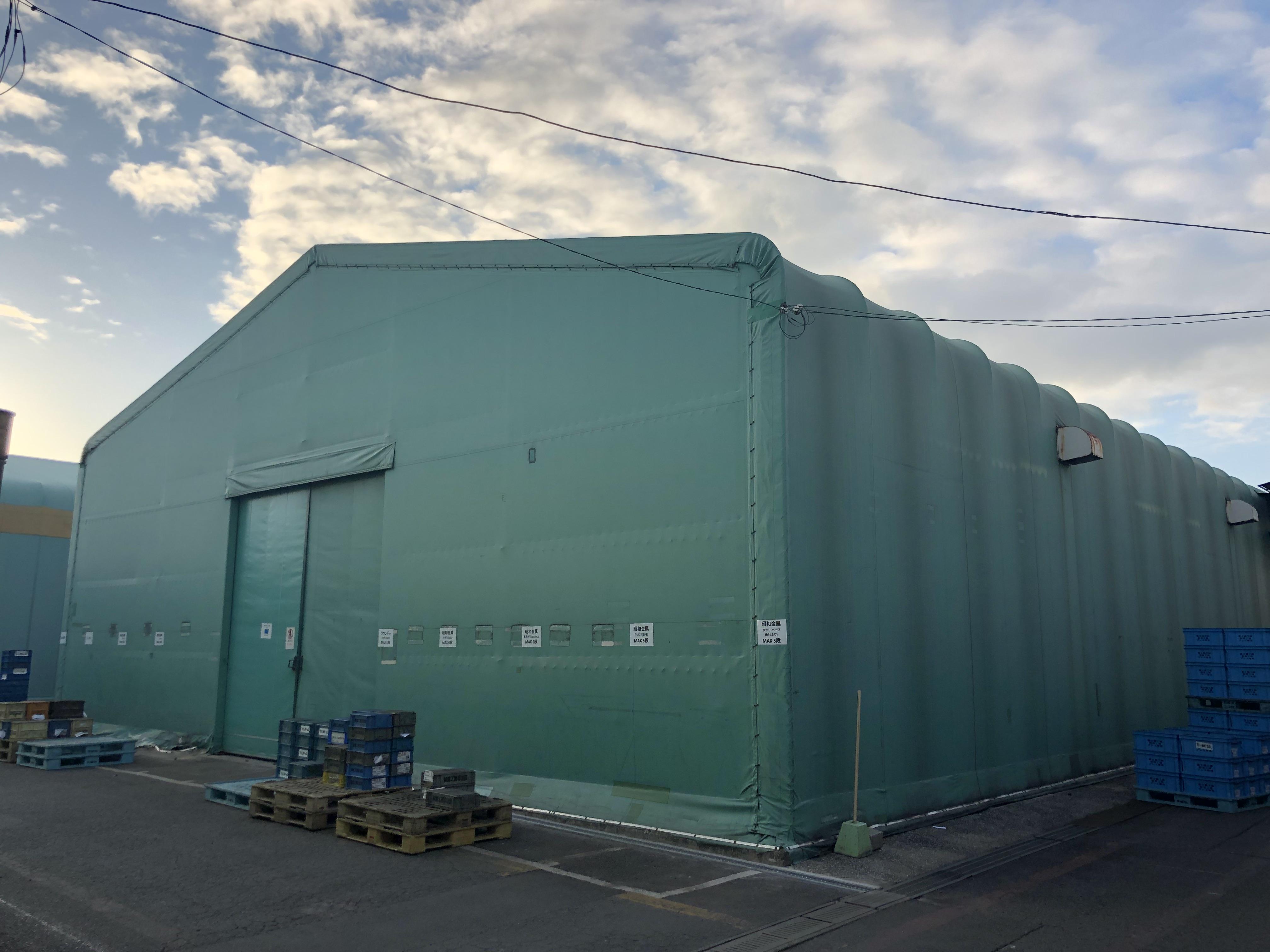 大分県中津市 テント倉庫の改修工事をさせていただきました。